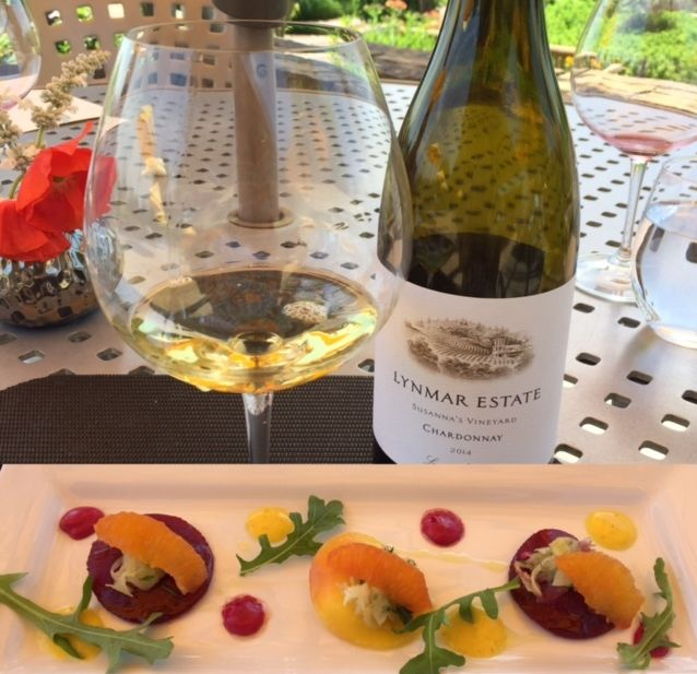Wine and food pairing at Lynmar Estates