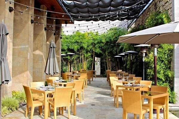 Outdoor area of Lucy restaurant.
