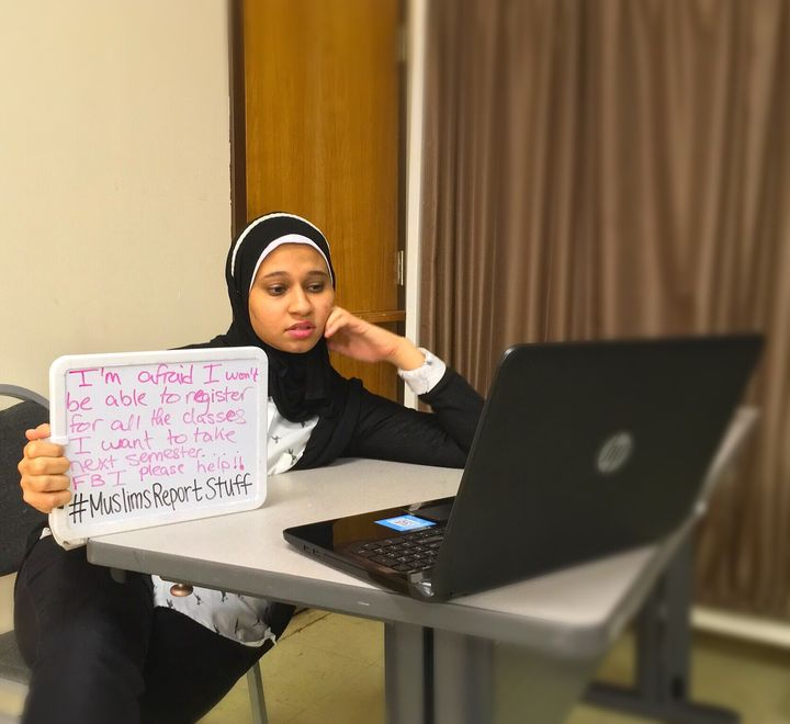"""""""I'm afraid I won't be able to register for all the classes I want to take next semester. FBI please help. #MuslimsReportStuf"""