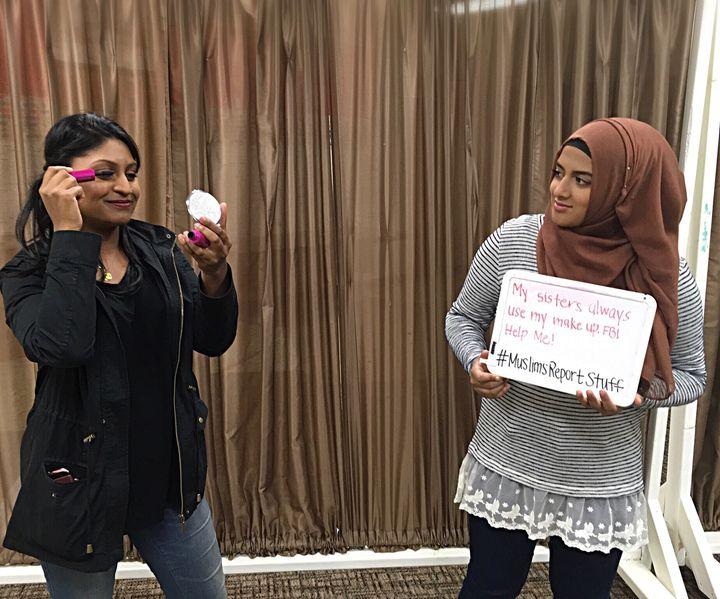 """""""My sisters always use my makeup. FBI help me! #MuslimsReportStuff"""""""