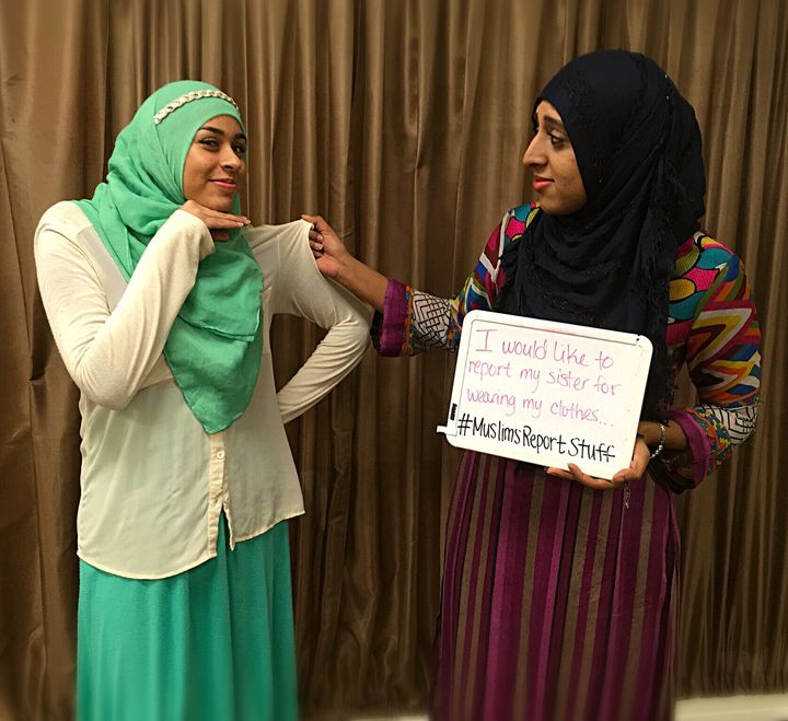 """""""I would like to report my sister for always wearing my clothes... #MuslimsReportStuff"""""""
