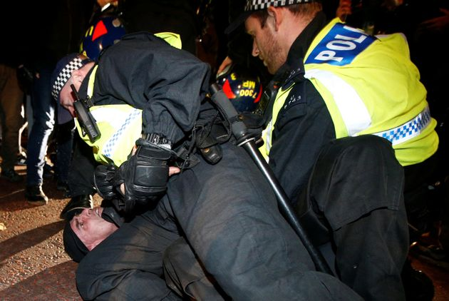 Police arrested 53 people at the Million Mask March in London on Saturday