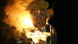 Donald Trump Effigy Burns In England As Part Of Bonfire Night