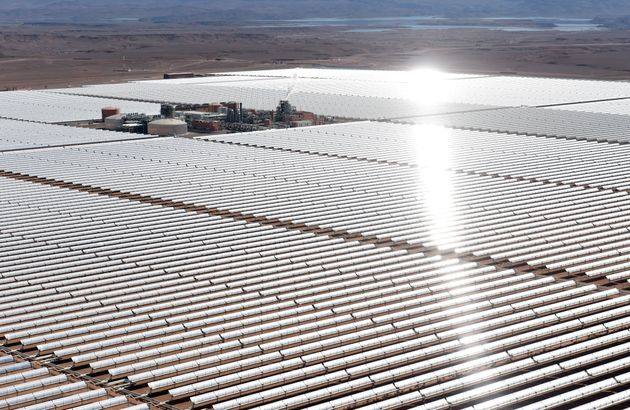 The Ouarzazate Solar Power Station in Morocco, one of the world's