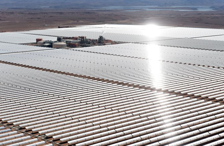 TheOuarzazate Solar Power Station in Morocco, one of the world's largest.