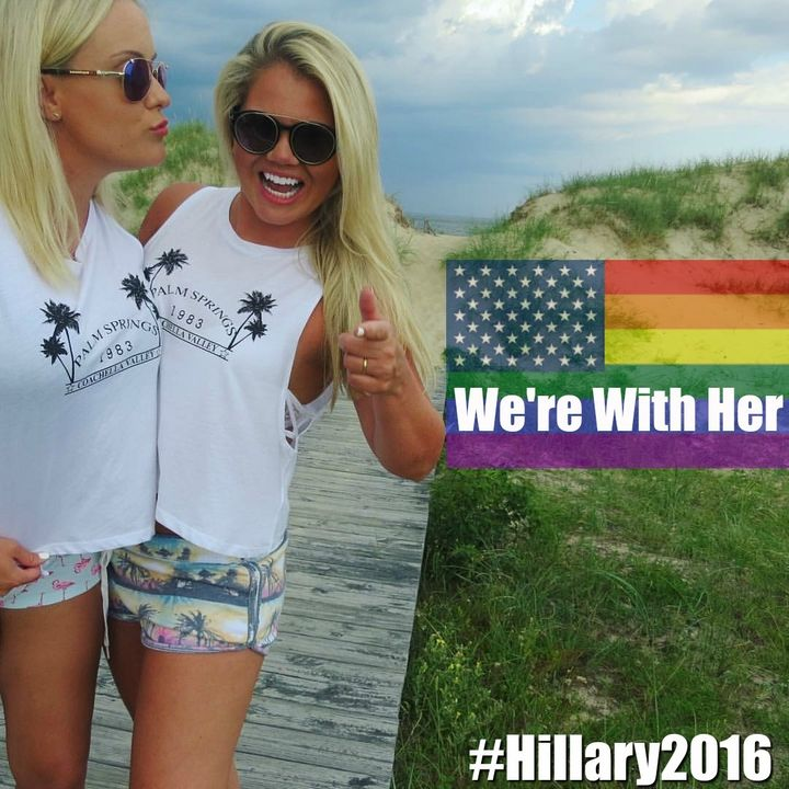 "Wegan for Hillary. (Credit: <a href=""https://pixabay.com/"" target=""_blank"">Rainbow flag)</a>"