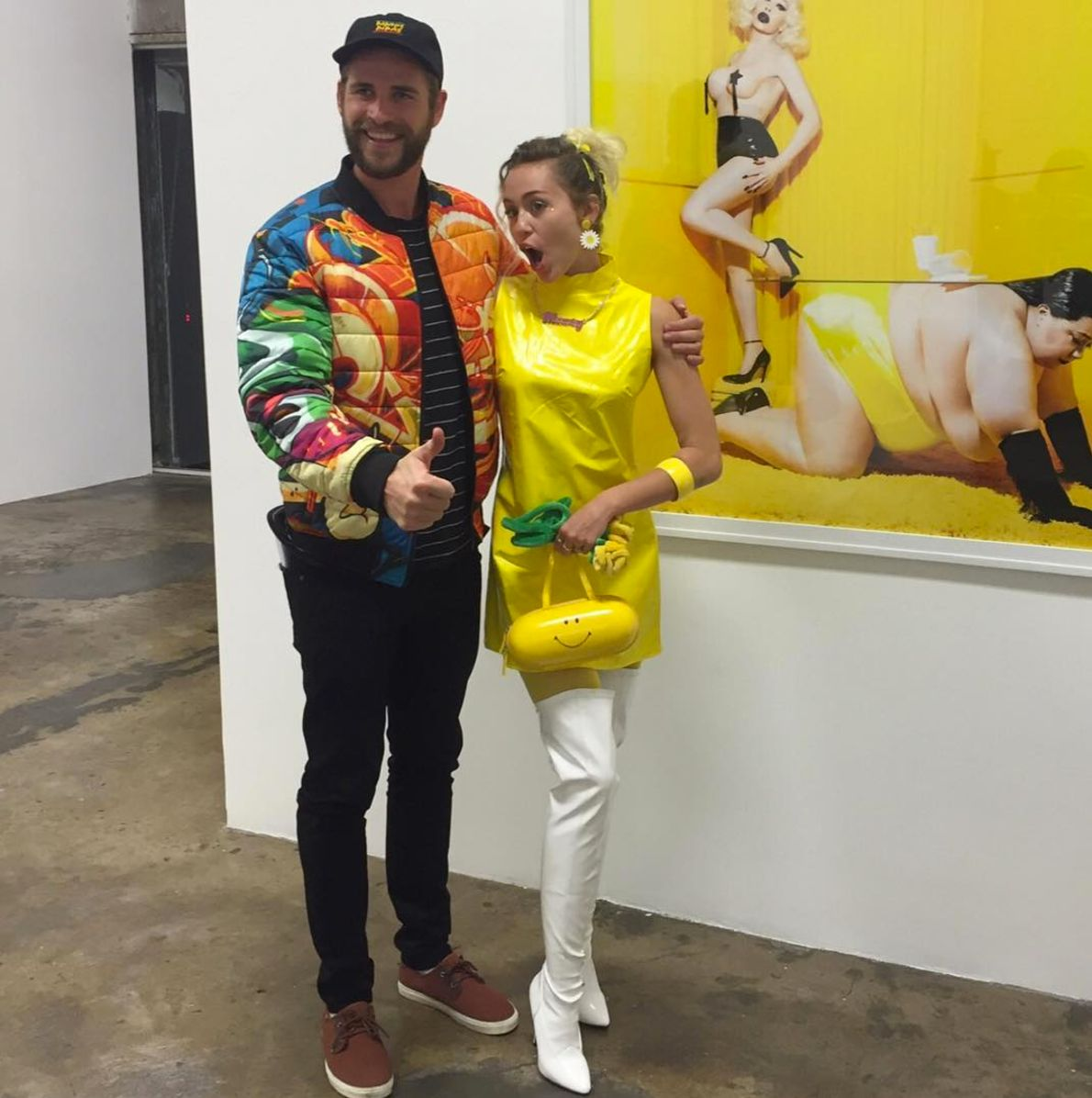 Miley Cyrus And Liam Hemsworth Step Out For Colorful Date Night In