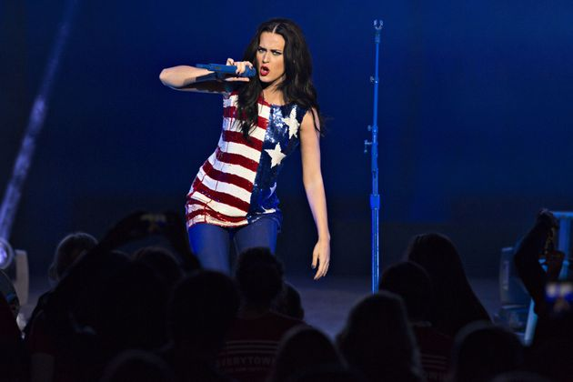 Perry performing at a concert for Hillary Clinton at the Mann Center in Philadelphia on