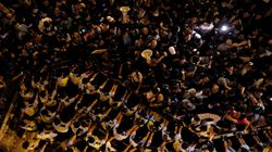 Protesters And Police Clash In Hong Kong Over