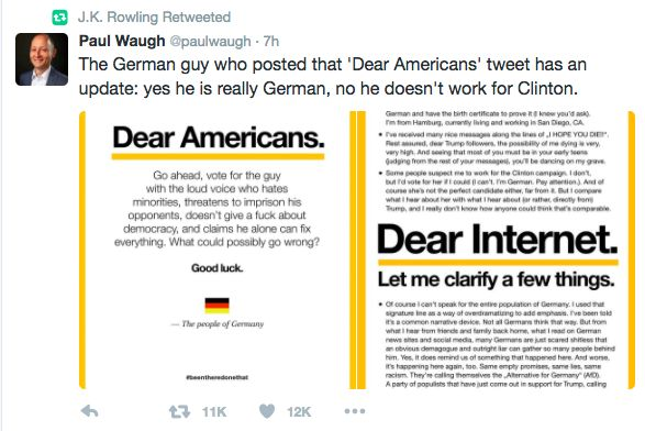 Exclusive: German Author Of 'Dear Americans' Viral Message Says Rise Of Trump Made Him 'Physically