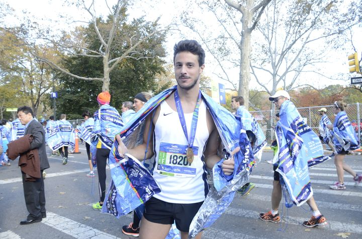The 2016 New York City Marathon was Alessandro Frati's first marathon.
