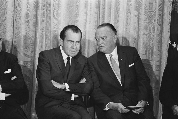 President Richard Nixon and FBI Director J. Edgar Hoover in 1969.