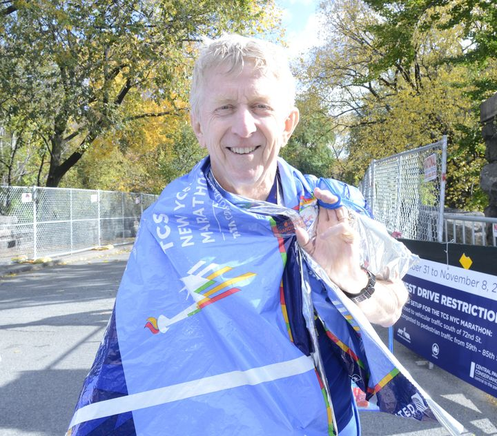 Andrew Cochrane traveled from Australia for an opportunity to run the New York City Marathon.