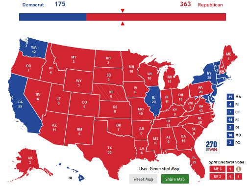 Whats Wrong With 538 HuffPost - Us Map Presidential Predictions