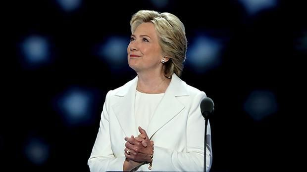 Hillary Clinton becomes the first woman to be nominated for president by a major party