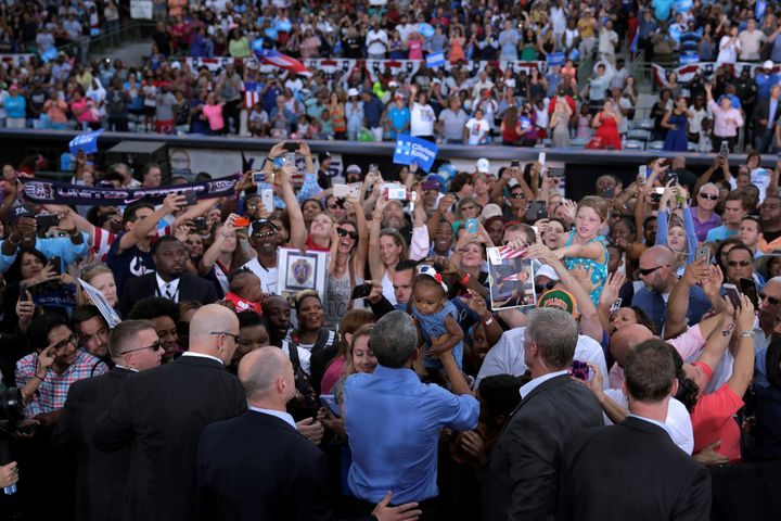 On Sunday, President Barack Obama rallied supporters in Kissimmee, Florida.