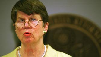 N367625 07: ***DATE CORRECTION*** (MAGAZINES OUT) Attorney General Janet Reno addresses a news conference April 12, 2000 in Miami concerning the Elian Gonzalez custody case. Reno ordered Elian's Miami relatives to bring the boy to a Miami-area airport Thursday afternoon after she failed to persuade them to end the wrenching custody struggle. (Photo by Joe Raedle)