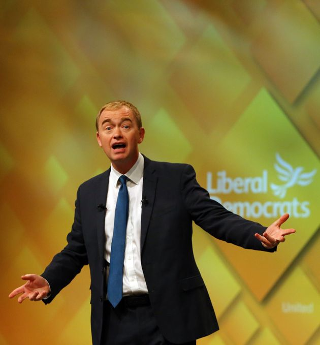 Liberal Democrat Leader Tim Farron said May had 'misled' the British public and 'is now clobbering those...