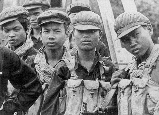 """The teenage army that comprised the Khmer Rouge (<a href=""""http://www.historyplace.com/worldhistory/genocide/khmer-rouge.jpg"""""""