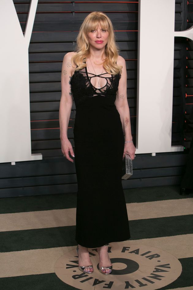 Courtney Love at the 2016 Vanity Fair Oscars