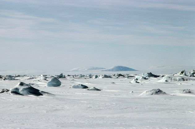 Glacier, Fury and Hecla Strait between Baffin Island and the Melville Peninsula,