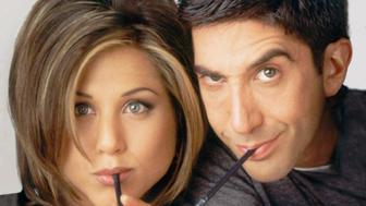 FRIENDS -- Season 2 -- Pictured: (l-r) Jennifer Aniston as Rachel Green, David Schwimmer as Ross Geller  (Photo by NBC/NBCU Photo Bank via Getty Images)