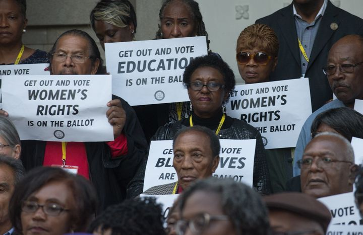 Reverend Barber and the North Carolina NAACP hold a press conference in Raleigh, North Carolina, discussing voting rights and
