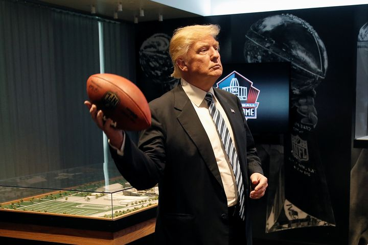 Donald Trump tours the Pro Football Hall of Fame in Canton, Ohio, in September. The GOP presidential nominee has said he'd li