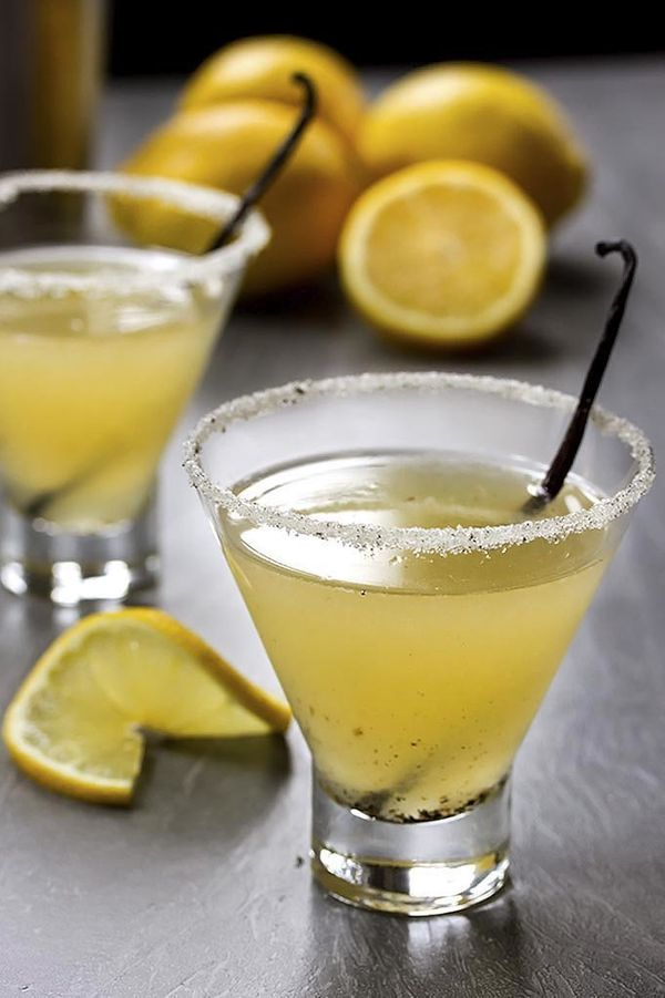 "<strong>Get the <a href=""http://cookswithcocktails.com/vanilla-meyer-lemon-martini/"" target=""_blank"">Vanilla And Meyer Lemon"