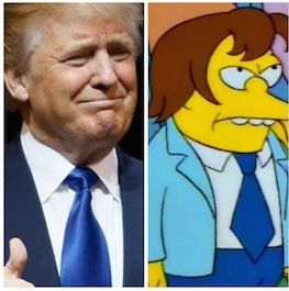 Donald Trump and Nelson Muntz, resident bully on 'The Simpsons'