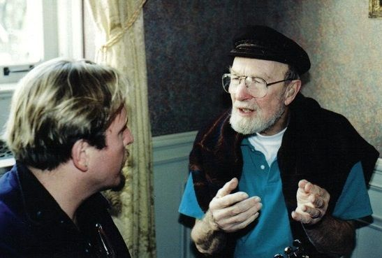 At the feet of the master. Metsa and the late Pete Seeger
