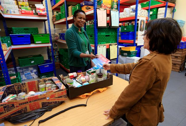 Foodbanks, like this one pictured in Brent, are on course to hand out more parcels than ever before....