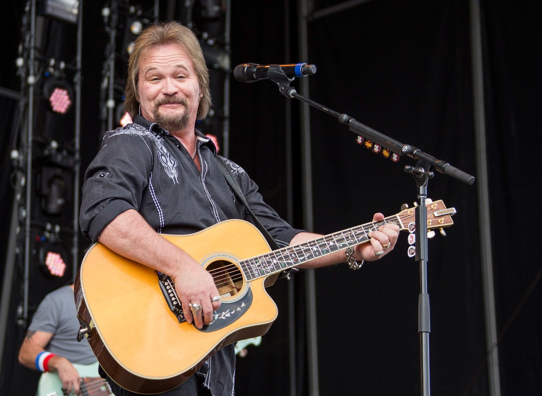 BROOKLYN, MI - JULY 16:  Travis Tritt performs during Faster Horses Festival at Michigan International Speedway on July 16, 2016 in Brooklyn, Michigan.  (Photo by Scott Legato/Getty Images)