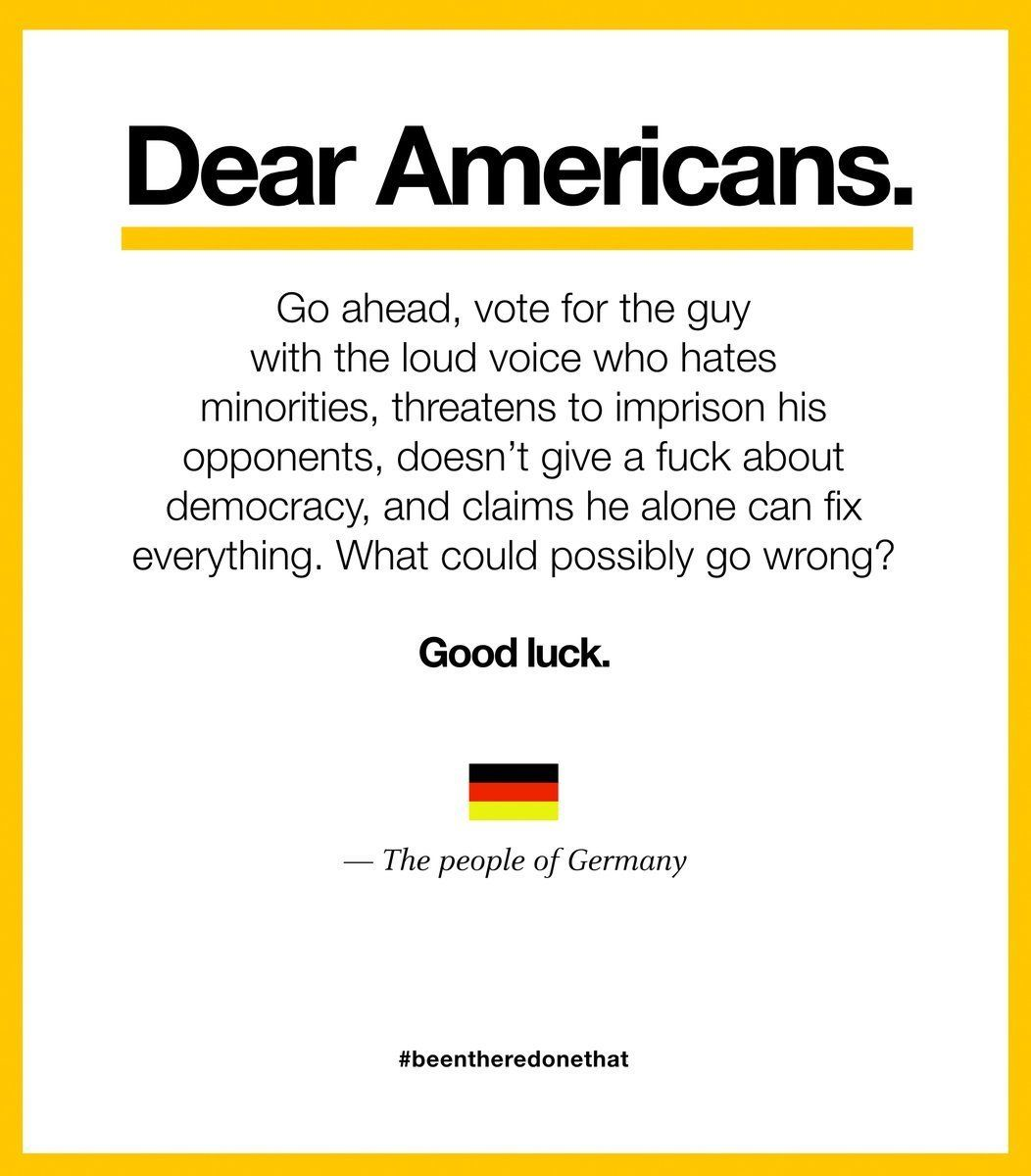 Viral Letter From 'People Of Germany' Compares Donald Trump To