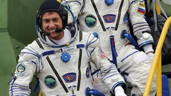 The International Space Station (ISS) crew membes Shane Kimbrough of the U.S. smiles as he boards the Soyuz MS-02 spacecraft for the launch at the Baikonur cosmodrome, Kazakhstan October 19, 2016. REUTERS/Maxim Shipenkov/Pool
