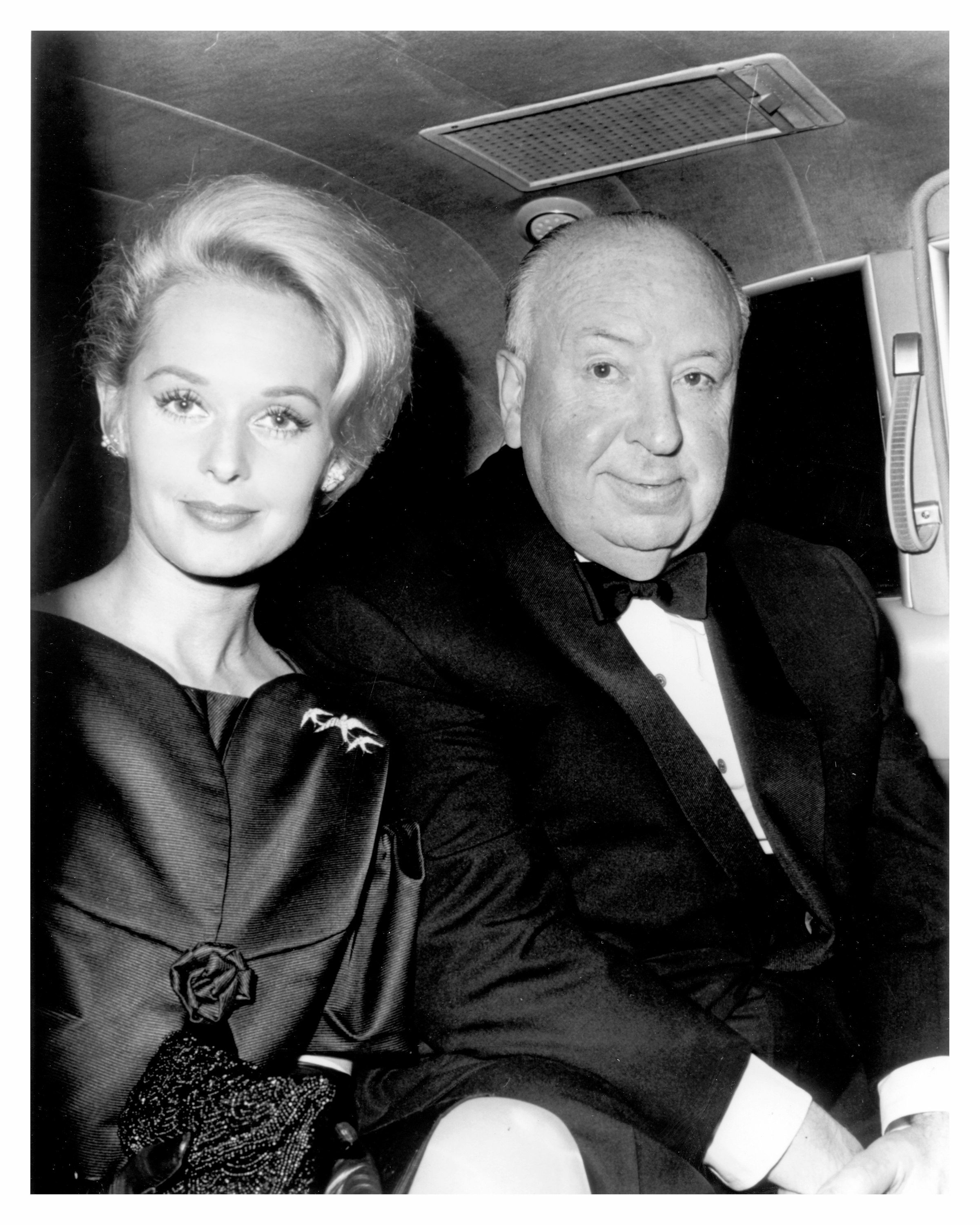 "Tippi Hedren and Alfred Hitchcock after filming ""The Birds,"" the actress' first feature film."