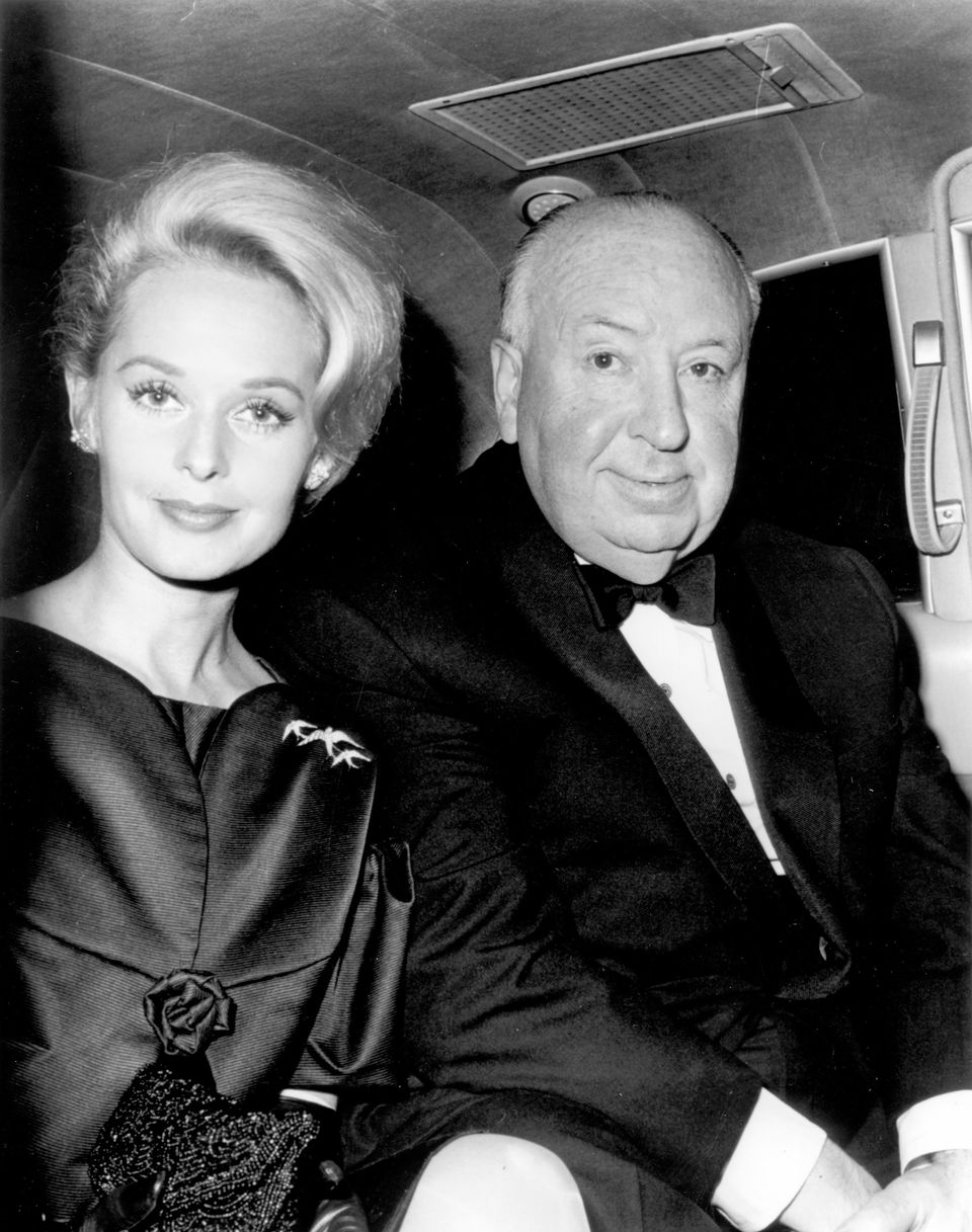 """Tippi Hedren and Alfred Hitchcock after filming """"The Birds,"""" the actress' first feature film."""