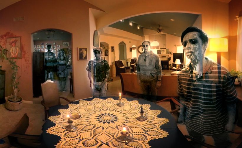 Scene from<em> Eye for an Eye: A Séance in Virtual Reality</em>
