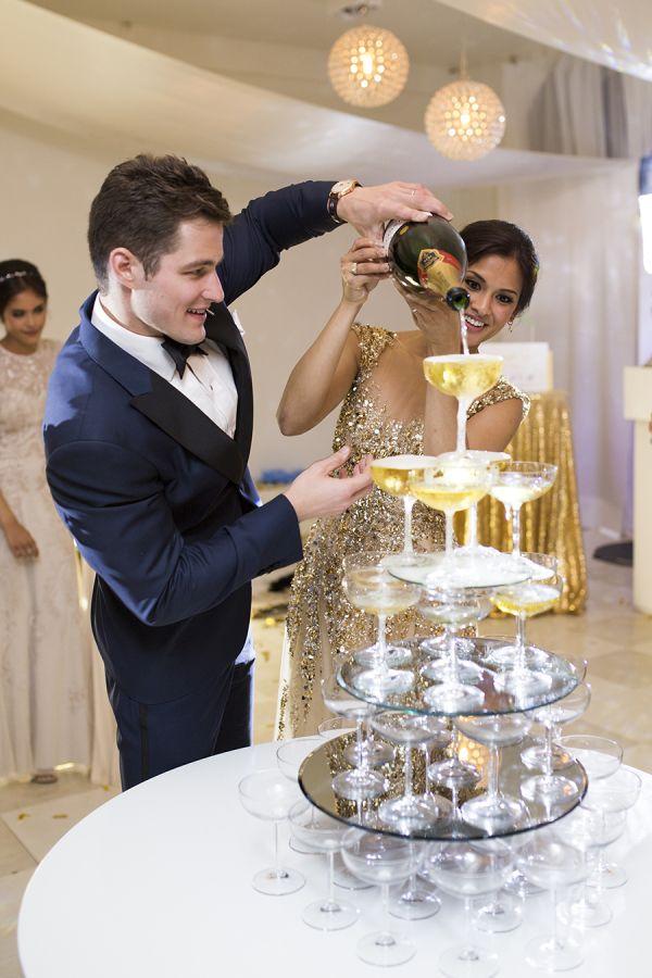 """<a href=""""http://www.stylemepretty.com/destination-weddings/france-weddings/2016/01/04/french-chateau-wedding-sparkly-gold-dre"""