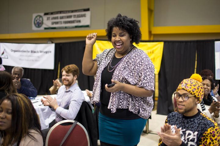 Activist Kayla Reed in 2015. Reed is mobilizing voters against Missouri's proposed constitutional amendment that would impose