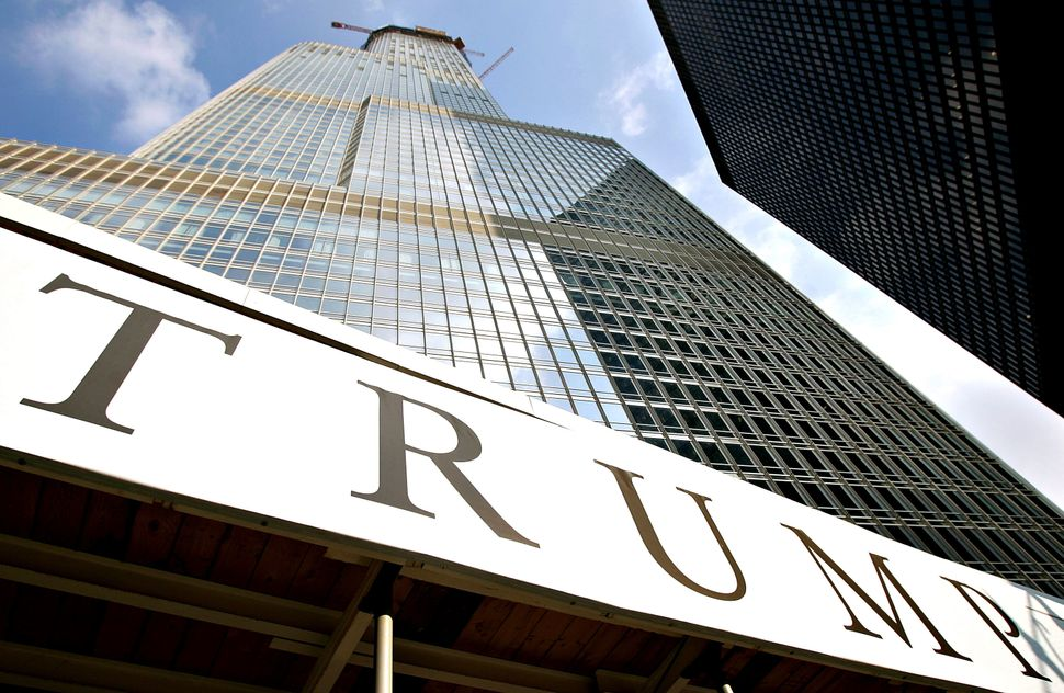 Chicago's nearly completed Trump International Hotel in 2008.