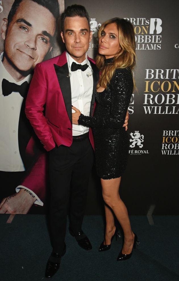Robbie with wife Ayda