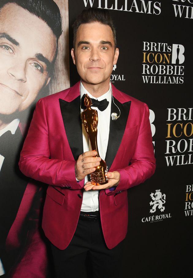 Robbie has won the Brits Icon
