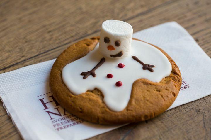 Pret's melting gingerbread snowman.