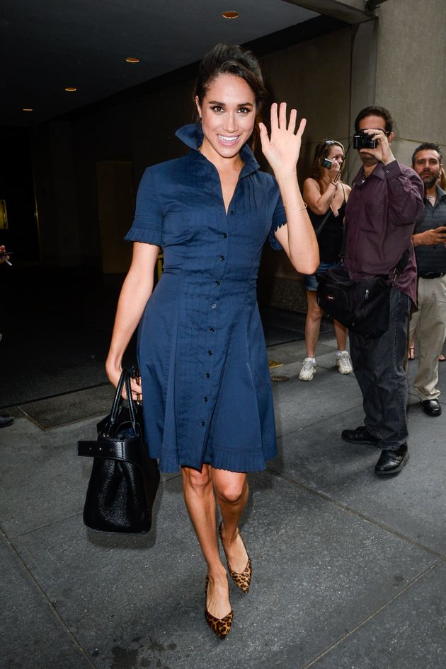 Meghan Markle leaves a taping of the