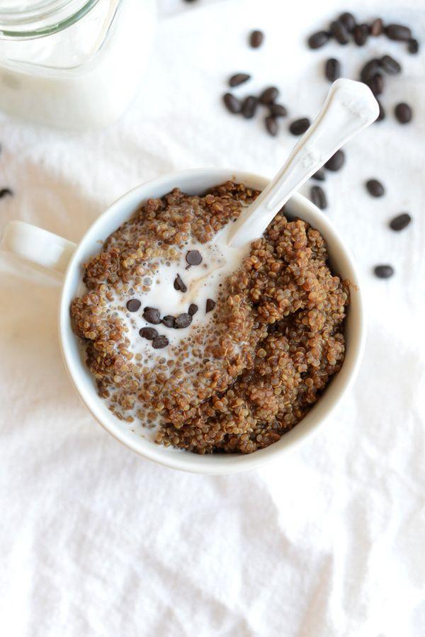 "<strong>Get the <a href=""http://fitfoodiefinds.com/2014/04/mocha-latte-breakfast-quinoa/"" target=""_blank"">Mocha Latte Breakfa"