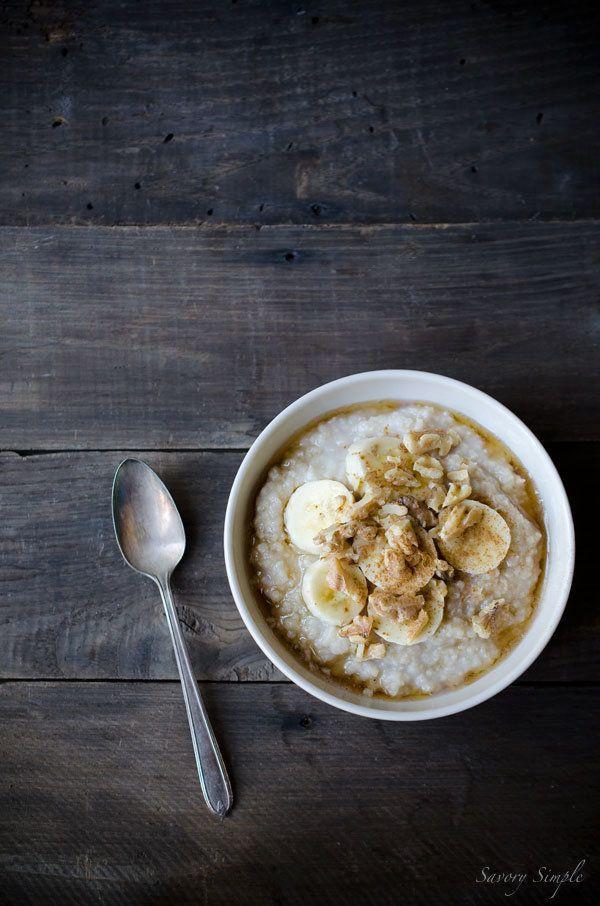 "<strong>Get the <a href=""http://www.savorysimple.net/banana-millet-breakfast-porridge/"" target=""_blank"">Banana Millet Breakfa"