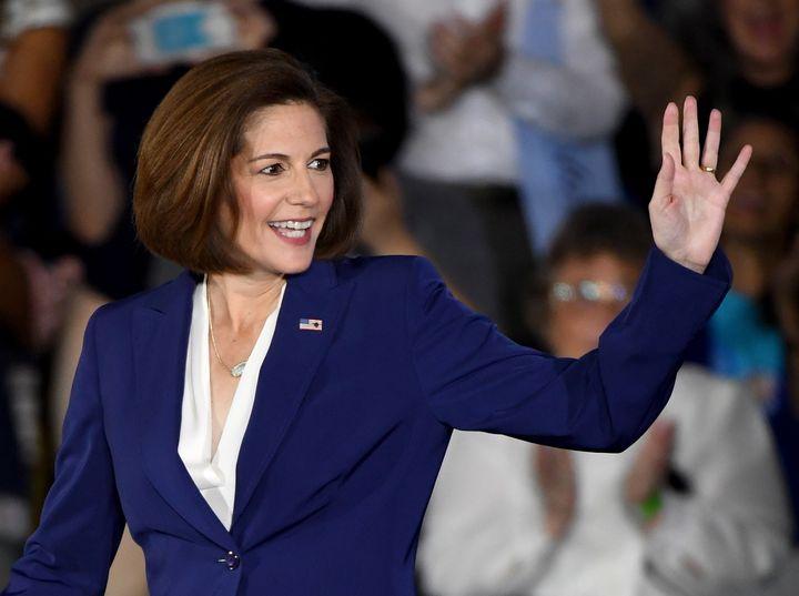 Democratic U.S. Senate candidate Catherine Cortez Masto could be making history today.