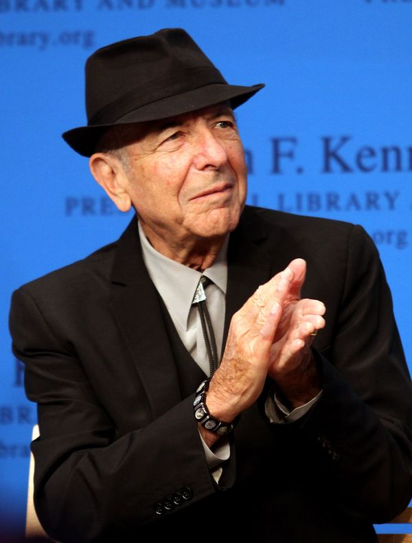 Honoree Leonard Cohen during the 2012 Awards for Lyrics of Literary Excellence at The John F. Kennedy Presidential Library An