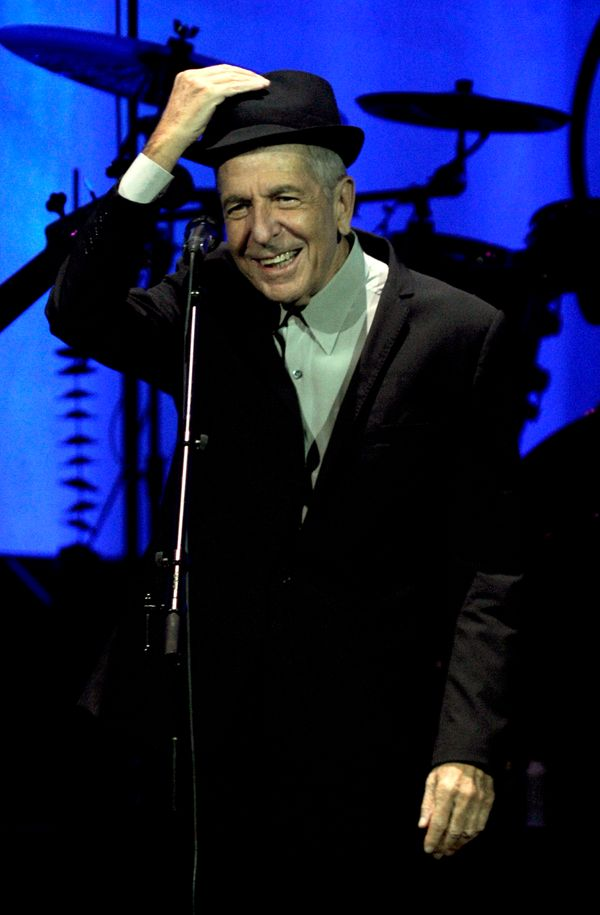 Leonard Cohen performs in support of his Live in London release at the HP Pavilion in San Jose, California.